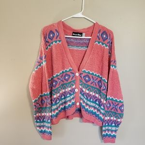 Vintage Boca Bleu Button Down Sweater